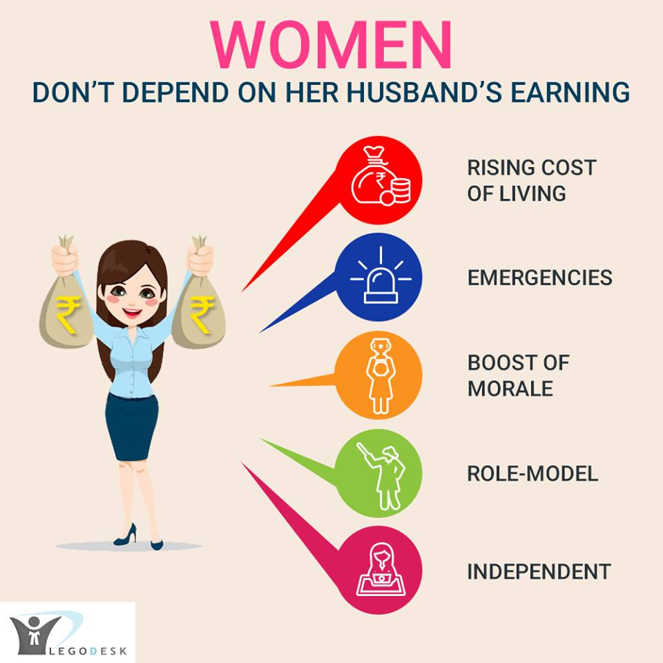 WOMAN ! DON'T DEPEND ON YOUR HUSBAND'S EARNING