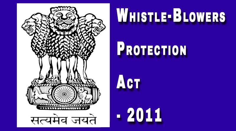 whistleblower protection act india 2011