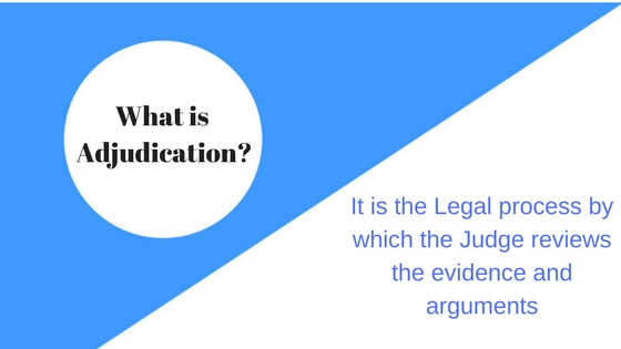 Adjudication Meaning and Defination in law