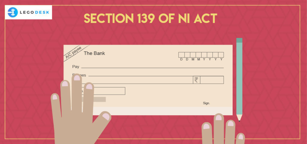 Section 139 of Negotiable Instruments