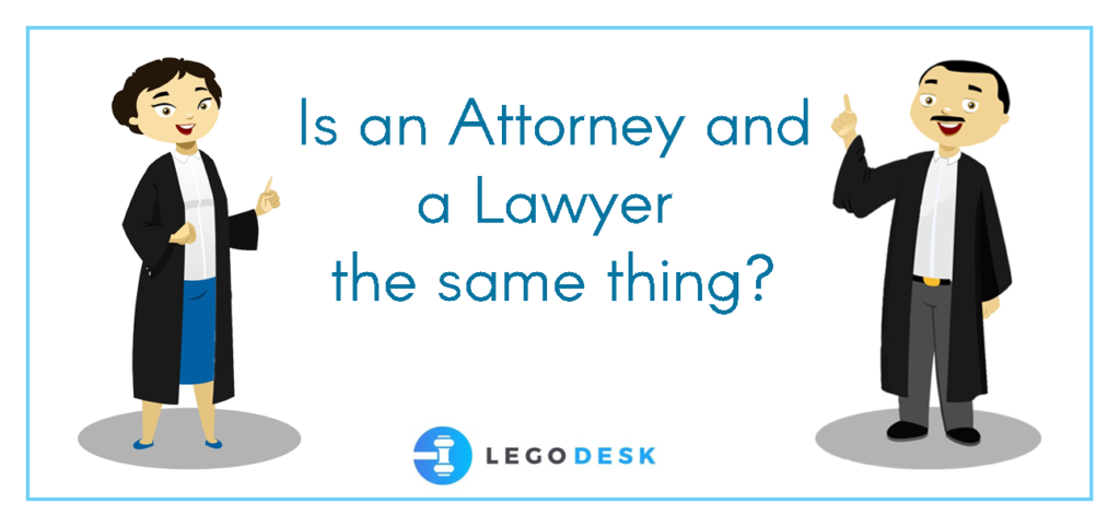 difference between a lawyer and an attorney