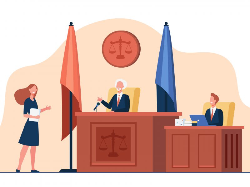 The process of interviewing a witness for a case